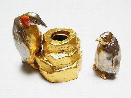 南極親子 ペン立て【Palnart Poc/パルナートポック(ブラフシューぺリア)】ペンギンのオブジェ