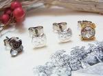 chaton 子猫のセットピアス (シルバー)【KAZA/カザ】ねこ ネコ キャット アニマル 動物 キュート かわいい アクセサリー レディース クリスマス