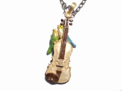 愛の挨拶 ネックレス 【 Palnart Poc パルナートポック 】【メール便送料無料】インコ 鳥 バード アクセサリー ヴァイオリン 楽器