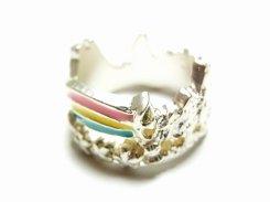 虹の向こうに リング シルバー【Luccica/ルチカ】カラフル レインボー かわいい アクセサリー 個性的 おもしろ 指輪 メルヘン 夢 カジュアル
