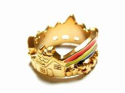 虹の向こうに リング ゴールド【Luccica/ルチカ】かわいい アクセサリー 個性的 おもしろ 指輪 レインボー カラフル メルヘン ユニーク キュート