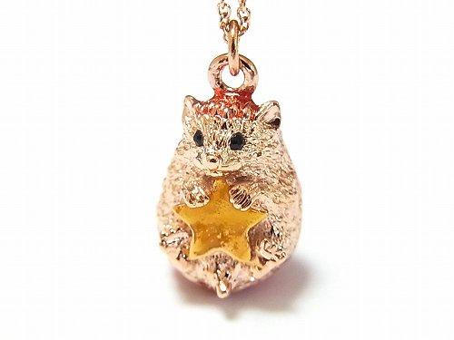 一番星 ネックレス 【cuir carameliser/クイール キャラメリゼ】【ゆうメール送料無料】 星 ハリネズミ アクセサリー ジュエリー アニマル スター 動物 かわいい 針ネズミ 個性的