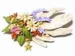 オリンポス ブローチ 【 Palnart Poc / パルナートポック Brough Superior / ブラフシューぺリア 】【 ゆうメール 送料無料 】 鳥 ブーケ アクセサリー フラワー 花