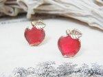 プチリンゴ ピアス (レッド)【Luccica/ルチカ】【ゆうメール送料無料】小さな林檎のアクセサリー りんご アップル フルーツ 果物 カワイイ