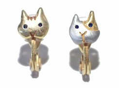 センツァカーサ イヤリング 【 Palnart Poc パルナートポック 】【 メール便 送料無料 】 キャット ネコ ねこ 猫 かわいい おしゃれ 動物 アニマル ユニーク