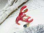 ロブスター リング【Luccica/ルチカ】【ゆうメール送料無料】エビ ユニーク 指輪 アクセサリー おもしろ 個性的 かわいい カジュアル