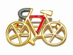 自転車 ブローチ (ゴールド)【 Luccica ルチカ 】【メール便送料無料】 アクセサリー ファッション バイスクール 乗り物 個性的 ユニーク サイクリング 楽しい