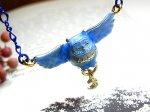 ブルームーンとふくろう ネックレス 【cuir carameliser/クイールキャラメリゼ】【ゆうメール送料無料】 アクセサリー かわいい アニマル 動物 ふくろう 鳥 バード 月 ムーン  幸運