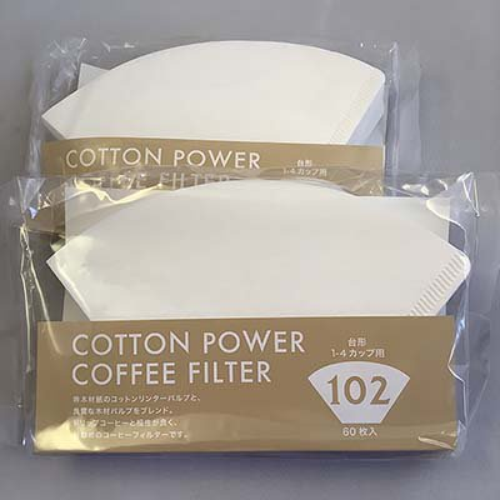 コットンパワーフィルター102<br>1〜4杯用 60枚入