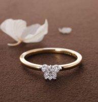 Butterfly/バタフライカットダイアモンドリング