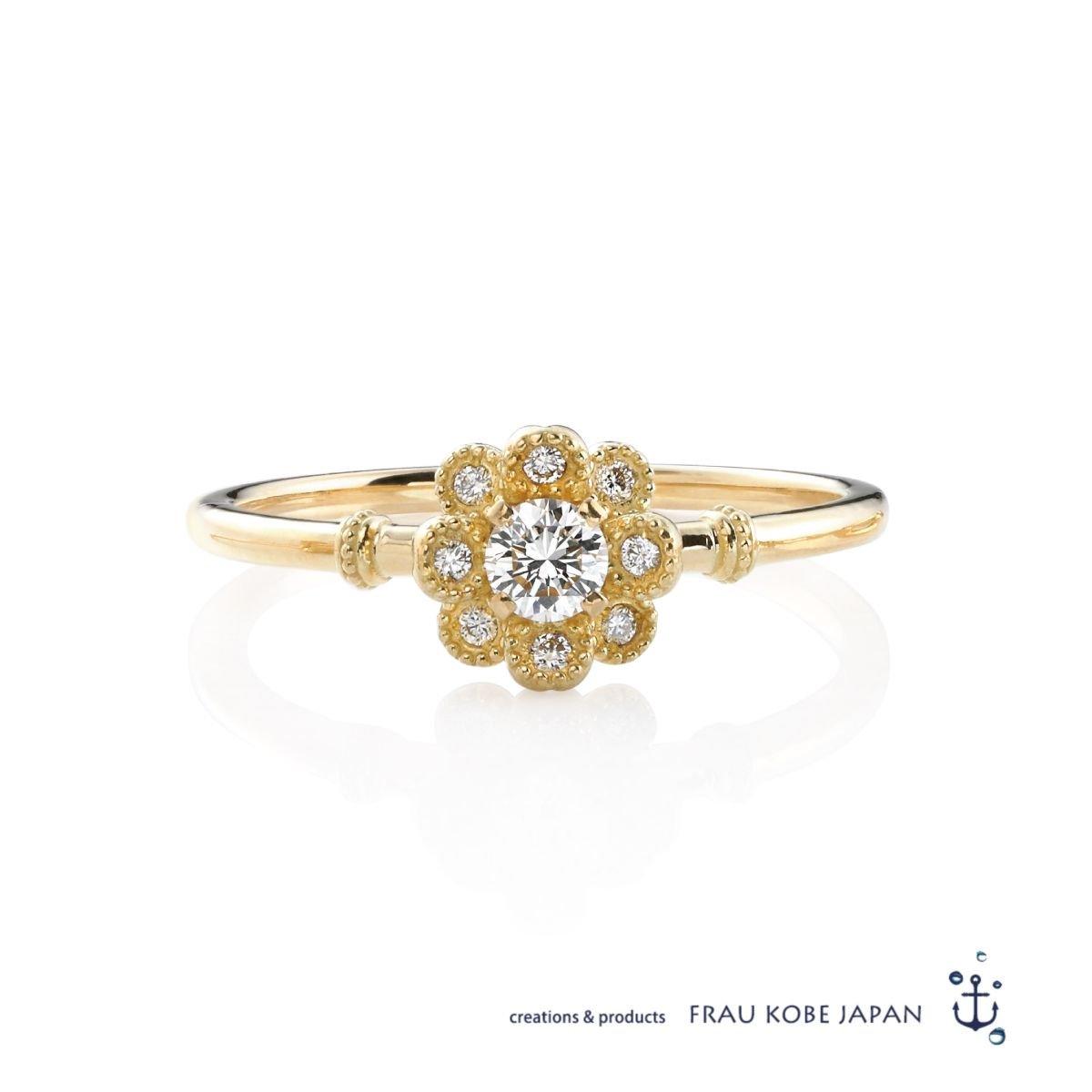 「PEONY/ピオニー」 ダイアモンドリング(K18)