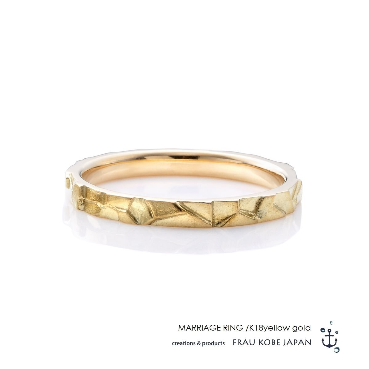 Nature002/Small stone found in our garden -Men's-マリッジリング