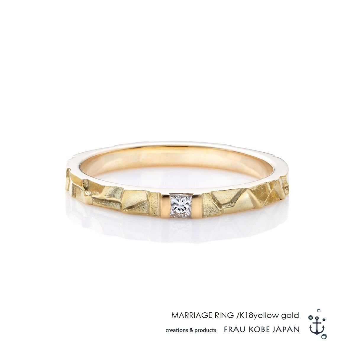 Nature002/Small stone found in our garden -Ladies'-マリッジリング
