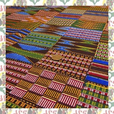 アフリカのプリント布 ケンテMix(表示価格は90cm)