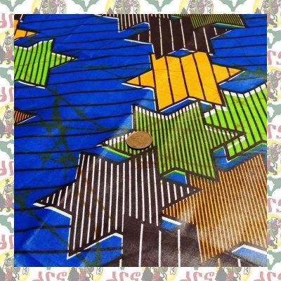 アフリカのプリント布 ダビデ青(表示価格は90cm)