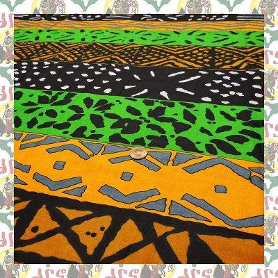 アフリカンファブリック  4民族柄(表示価格は90cm)