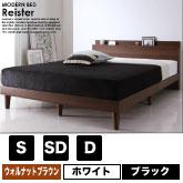 棚・コンセント付きデザインすのこベッド Reister【レイスター】の商品写真