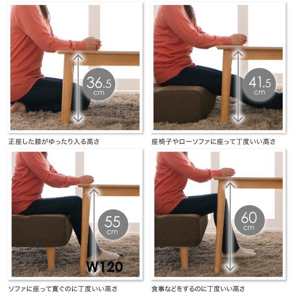 4段階で高さが変えられる!北欧デザインこたつテーブル Ramillies【ラミリ】長方形(120×80)の商品写真その1