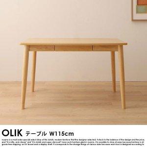 北欧モダンデザインダイニング OLIK【オリック】ダイニングテーブル幅115