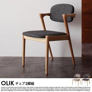 北欧モダンデザインダイニング OLIK【オリック】チェア2脚組【沖縄・離島も送料無料】の商品写真