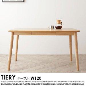 モダンデザインリビングダイニングセット TIERY【ティエリ—】 ダイニングテーブル(W120)