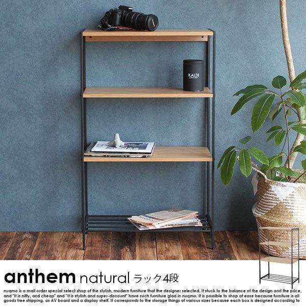anthem【アンセム】シリーズ-ナチュラル- ラック4段の商品写真大