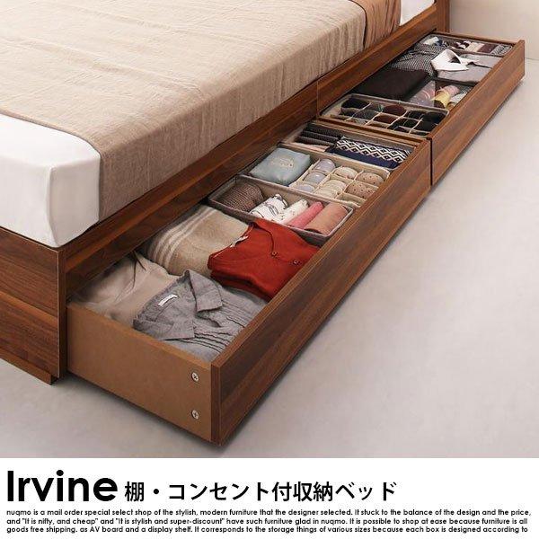棚・コンセント付き収納ベッド Irvine【アーヴァイン】フレームのみ ダブル の商品写真その4