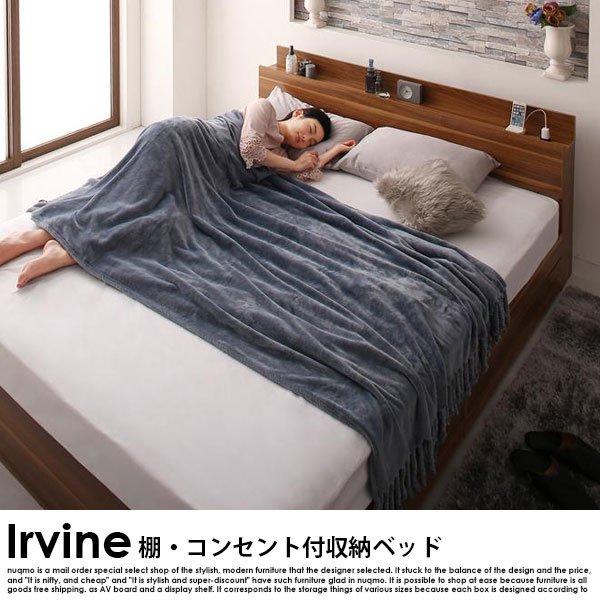 棚・コンセント付き収納ベッド Irvine【アーヴァイン】フレームのみ ダブル の商品写真その5