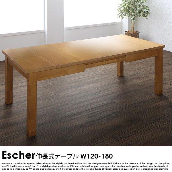 伸長式こたつダイニングテーブル Escher【エッシャー】ダイニングテーブル W120-180【沖縄・離島も送料無料】の商品写真大