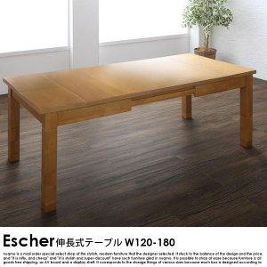 伸長式こたつダイニングテーブル Escher【エッシャー】ダイニングテーブル W120-180【沖縄・離島も送料無料】