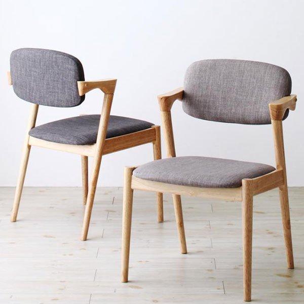 北欧デザインダイニング Wors【ヴォルス】4点セット(テーブル+チェア2脚+ベンチ1脚) W140の商品写真その1