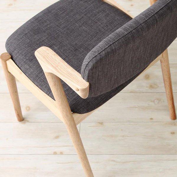 北欧デザインダイニング Wors【ヴォルス】4点セット(テーブル+チェア2脚+ベンチ1脚) W140 の商品写真その2