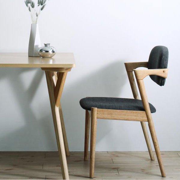 北欧デザインダイニング Wors【ヴォルス】4点セット(テーブル+チェア2脚+ベンチ1脚) W140 の商品写真その3