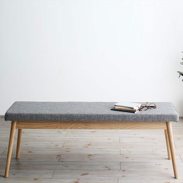 北欧デザインダイニング Wors【ヴォルス】4点セット(テーブル+チェア2脚+ベンチ1脚) W140 の商品写真その4