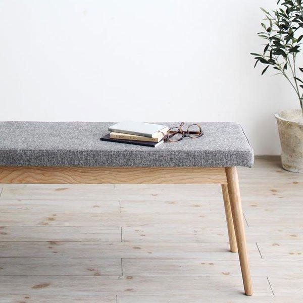 北欧デザインダイニング Wors【ヴォルス】4点セット(テーブル+チェア2脚+ベンチ1脚) W140 の商品写真その5