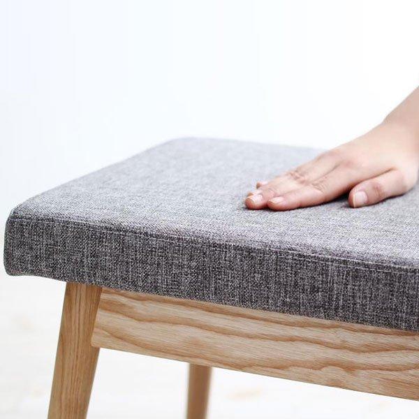 北欧デザインダイニング Wors【ヴォルス】4点セット(テーブル+チェア2脚+ベンチ1脚) W140 の商品写真その6