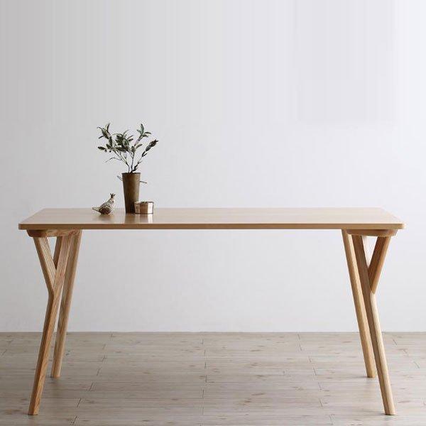 北欧デザインダイニング Wors【ヴォルス】4点セット(テーブル+チェア2脚+ベンチ1脚) W140 の商品写真その8