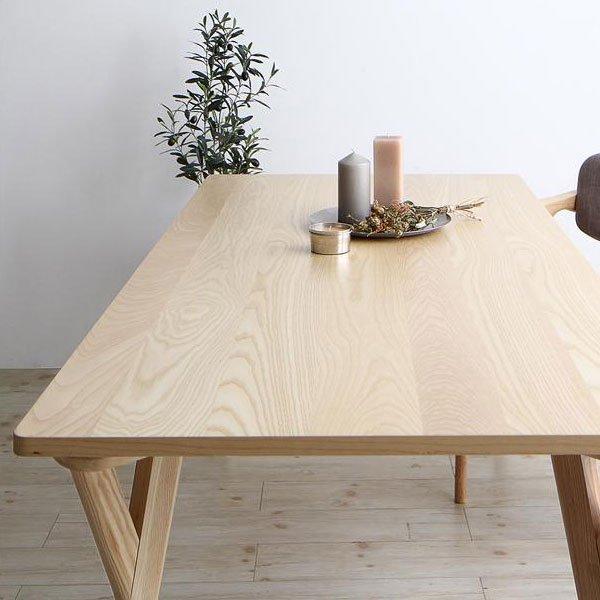 北欧デザインダイニング Wors【ヴォルス】4点セット(テーブル+チェア2脚+ベンチ1脚) W140 の商品写真その9