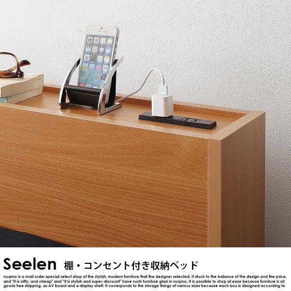 北欧ベッド 棚・コンセント付き2杯収納ベッド Seelen【ジーレン】ベッドフレームのみ シングル の商品写真その4
