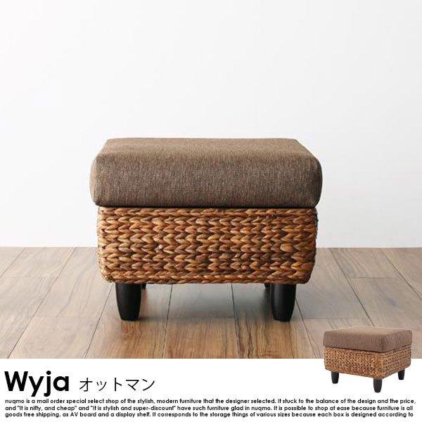ウォーターヒヤシンス Wyja【ウィージャ】オットマン単品の商品写真大