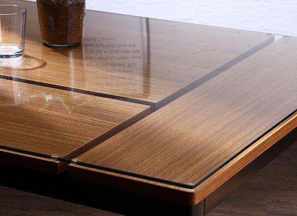 ガラス×ウッドデザイン カフェスタイルダイニング paint【ペイント】5点セット【代引不可】 の商品写真その6