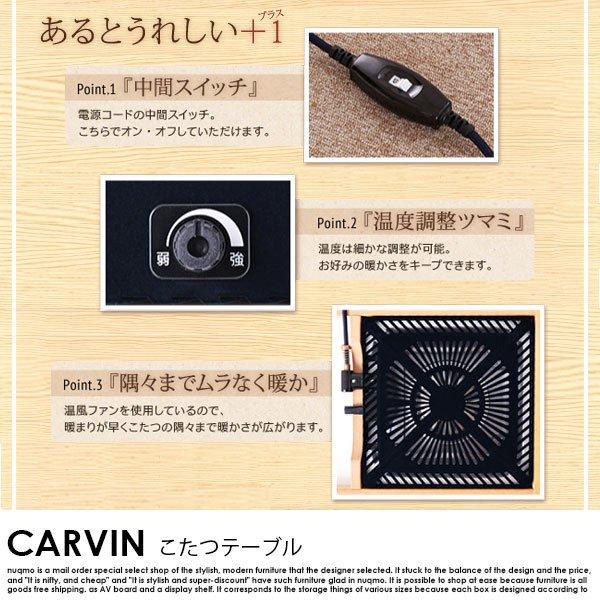 ミッドセンチュリーデザインこたつテーブル CARVIN【カーヴィン】楕円形(120×60) の商品写真その7