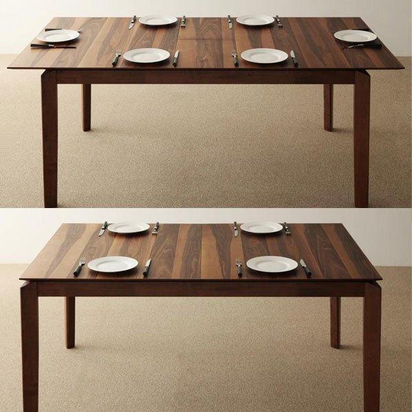 天然木ウォールナット伸縮式ダイニングテーブル Sharbat【シャルバート】(W150) の商品写真その2