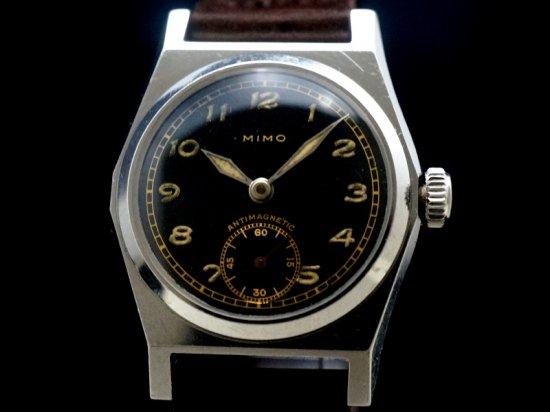 MIMO / BLACK GILT DIAL, QUATTRO-TACCHE 1940'S