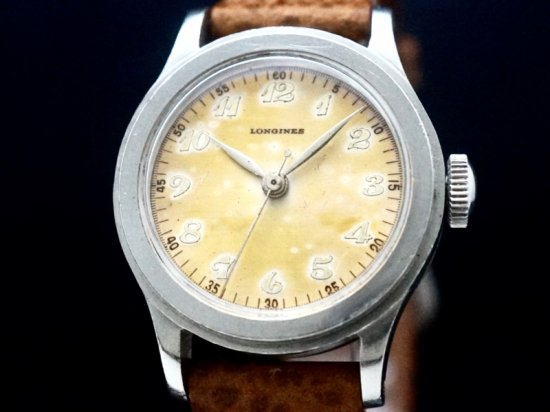 LONGINES / TRE-TACCHE, WIDE STEPPED BEZEL 1940'S