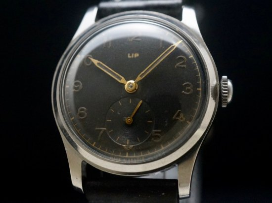 LIP / BLACK DIAL SS WATERPROOF CASE 1950'S
