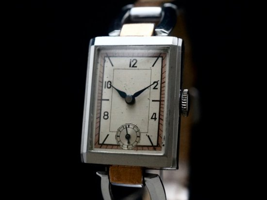 HANHART / SECTOR DIAL & BRACELET WATCH 1930'S