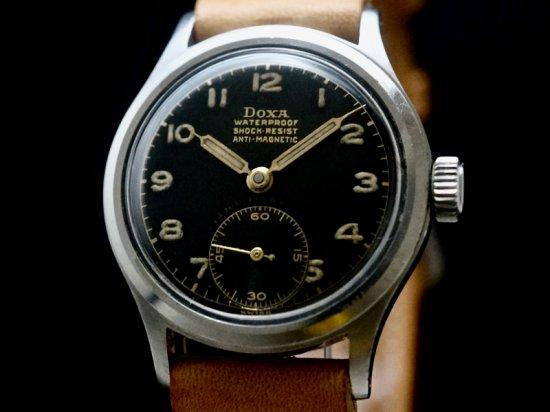 DOXA × FAVRE LEUBA / BLACK GILT DIAL 1940'S