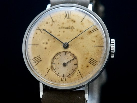 LONGINES / ART DECO DIAL, CYLINDER CASE 1930'S
