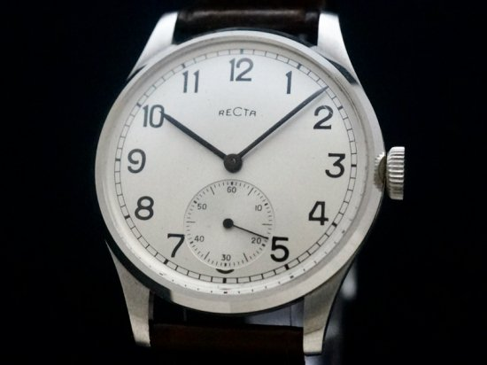 RECTA / 35mm LARGE CASE, BIG NUMERALS, NOS 1940'S